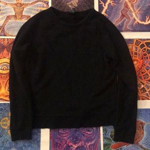 Plain Black Forever 21 Crewneck Sweater